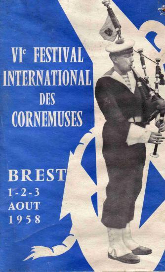 1958 : Programme festival de Brest